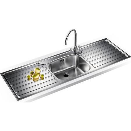 Franke ukx612dp uk range stainless steel sink and tap for Designer stainless steel sinks