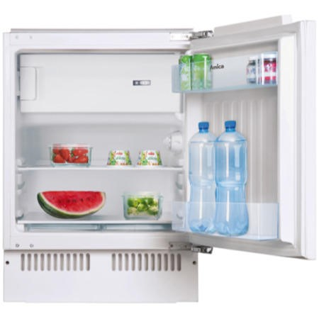 Amica UM130.3 60cm Wide Integrated Under Counter Fridge - White