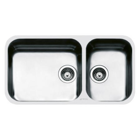 Smeg UM4530 Alba Double Bowl Undermount Sink