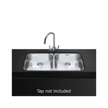 Smeg UM4545 Alba Double Bowl Undermount Stainless Steel Sink