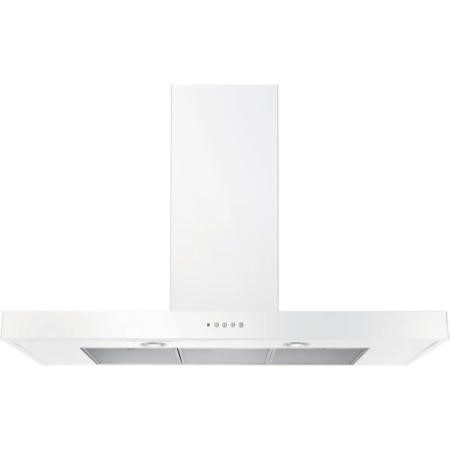 Rangemaster 105350 90cm Flat Chimney Cooker Hood White