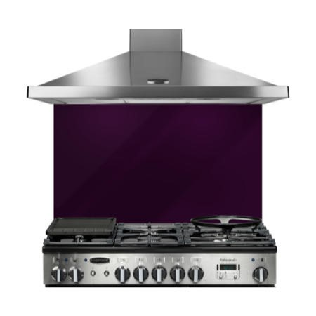 Rangemaster 10750 90cm Glass Splashback Purple