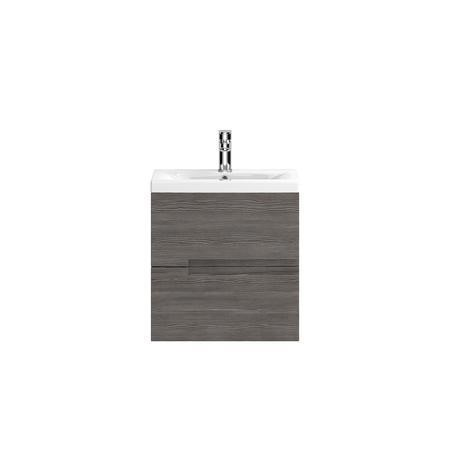 Hudson Reed Grey Wall Hung Bathroom Cabinet & Basin - W505 x H518mm
