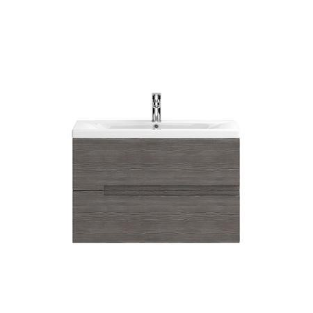 Hudson Reed Grey Wall Hung Bathroom Cabinet & Basin - W810 x H540mm