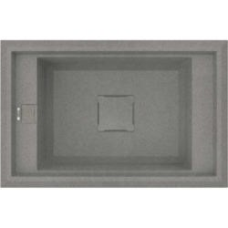 Reginox VECTOR130-TT 1.0 Bowl Regi-Granite Composite Sink Metaltek Titanium Grey
