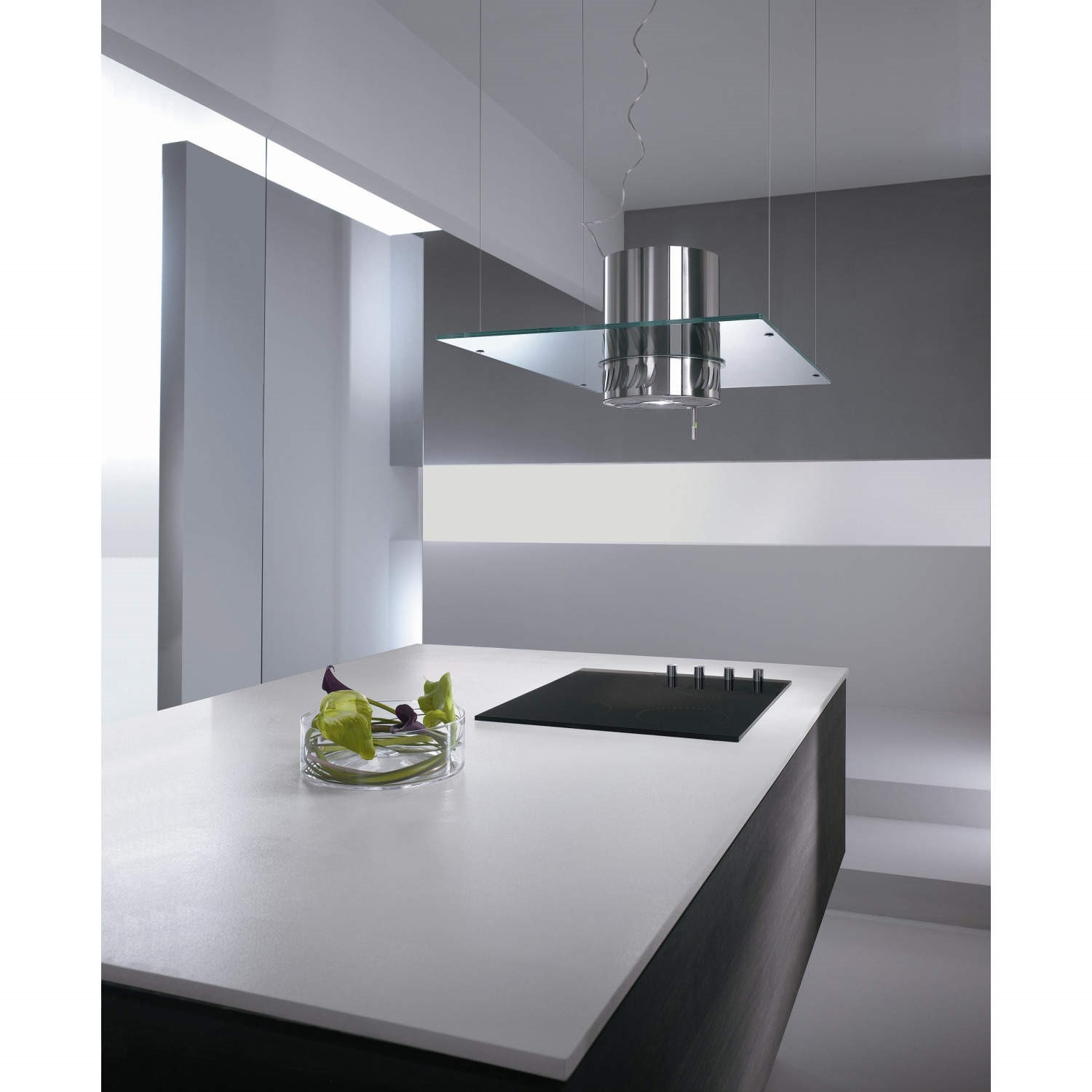 Elicia Cooker Hoods Elica Venezia 90Cm Stainless Steel Ceiling Mounted Island Cooker .