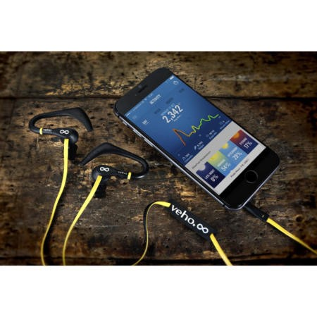 Veho ZS-2 Water Resistant Sports Earphones with Ear Hooks and Flex Anti Tangle Cable