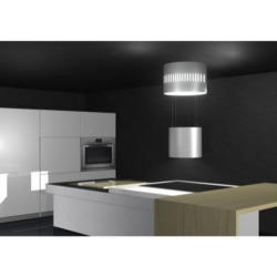 Rangemaster 103430 Vesper 52cm Wide Island Cooker Hood With Bright Ceiling Cooker Hood Black