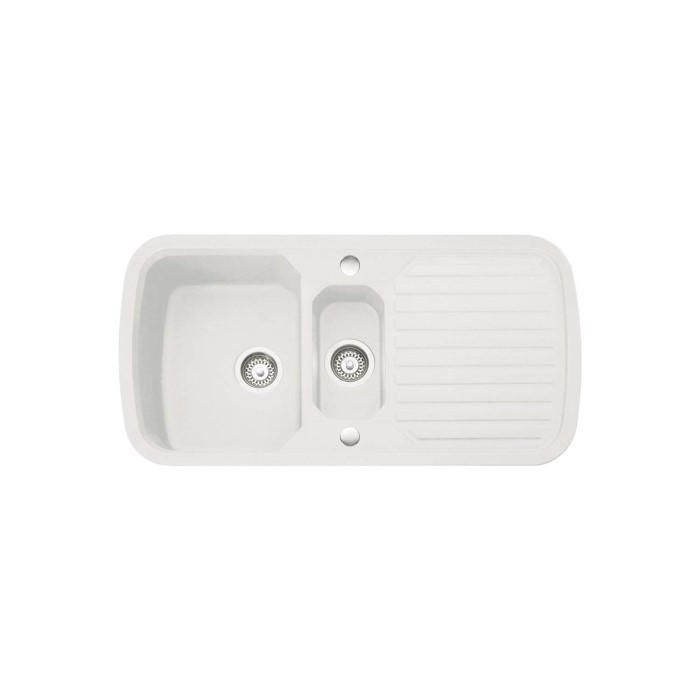 Leisure Sinks VHL2WH Highlight Velstra 980x508 1.5 Bowl Reversible ...
