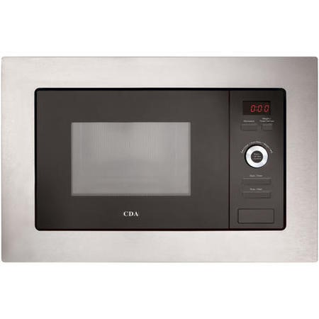 GRADE A1 - CDA VM550SS 17L 700W Slim Depth Built-in Standard Microwave Stainless Steel