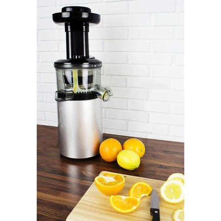 electriQ Premium Cold Press Vertical 150W Slow Juicer - Silver