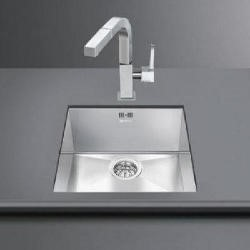 Smeg VSTQ40-2 Quadra Single Rectangular Undermount Sink