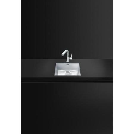 Smeg VSTQ50-2 Quadra Single Bowl Undermount Stainless Steel Sink