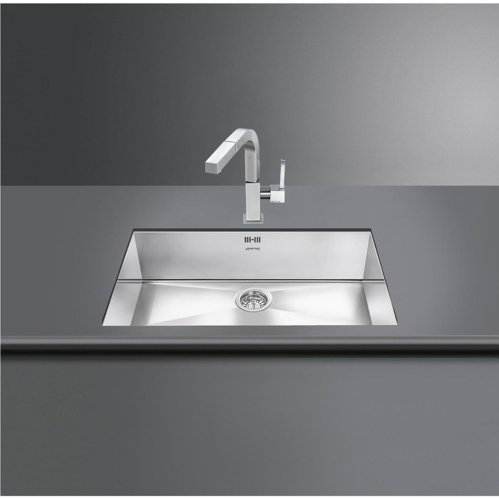 Smeg VSTQ72-2 Quadra Single Rectangular Undermount Sink | Appliances ...