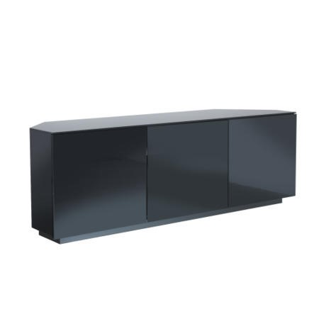 GRADE A3 - UKCF Milan Gloss Black Corner TV Cabinet - Up to 55 Inch