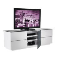 UKCF London Gloss White and Black TV Cabinet - Up to 60 Inch