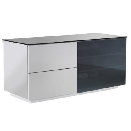 UKCF Paris Gloss White and Black TV Cabinet - Up to 42 Inch