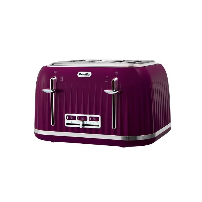 b14f60f98721 Breville VTT634 Impressions Textured 4 Slice Toaster - Purple VTT634