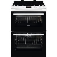 Zanussi ZCI66250WA 60cm Double Oven Electric Cooker With Induction Hob - White Best Price, Cheapest Prices