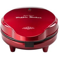 GOURMET GADGETRY WAFFLE MAKER Xs14 Retro Diner Waffle Maker Metallic Red