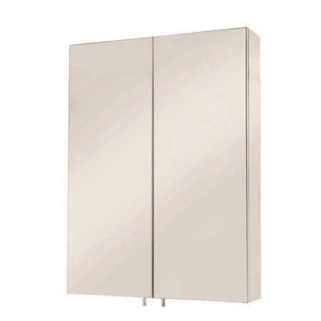 Croydex Anton Stainless Steel Double Door Mirror Cabinet
