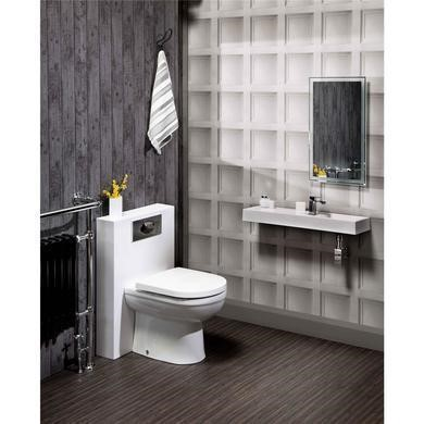 Polymarble Back to Wall WC Toilet Unit - Without Toilet - W500 x H790mm