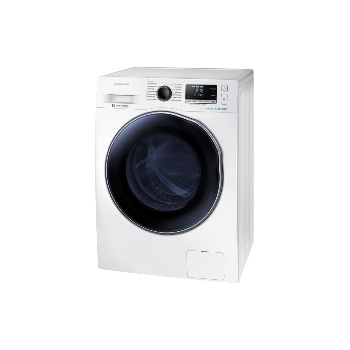 samsung wd90j6410aw ecobubble 9kg wash 6kg dry 1400rpm freestanding washer dryer white. Black Bedroom Furniture Sets. Home Design Ideas