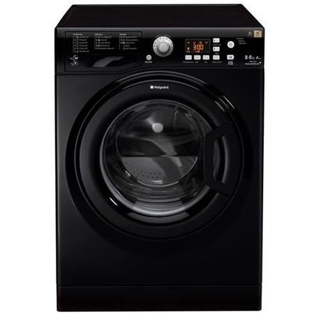 hotpoint wdpg8640k 8kg wash 6kg dry freestanding washer dryer black appliances direct. Black Bedroom Furniture Sets. Home Design Ideas