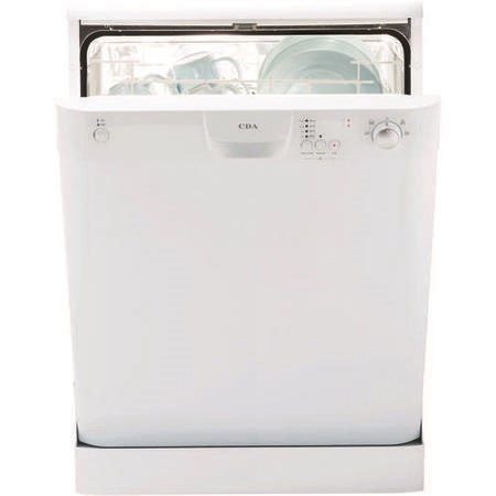 GRADE A3  - CDA WF140WH Freestanding Dishwasher  in White