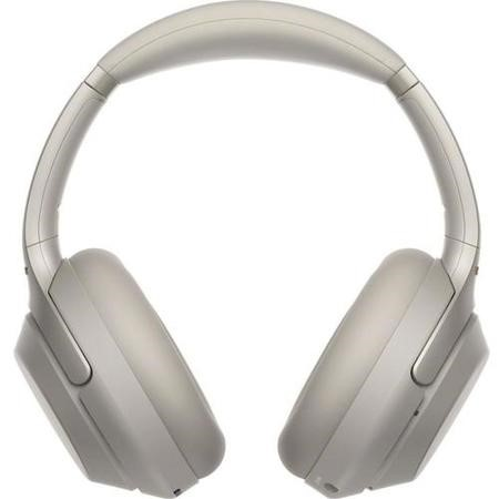 SONY Wireless Bluetooth Noise-Cancelling Headphones - Silver -sbtv-