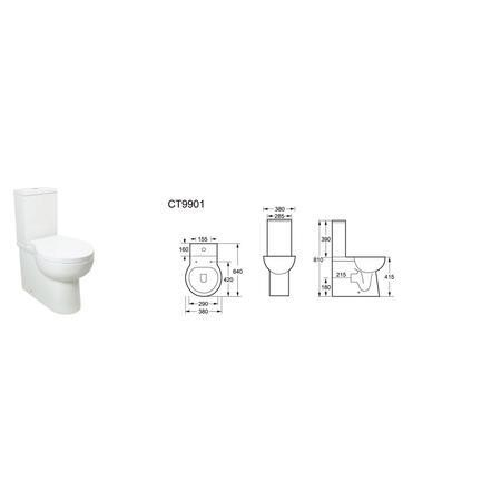 Anise Close Coupled Toilet with Soft Close Seat