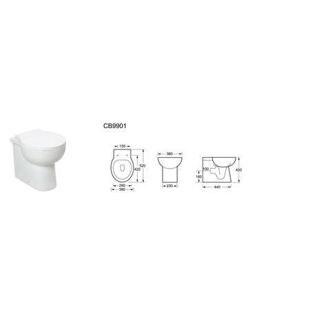 Anise Back to Wall Toilet with Soft Close Seat