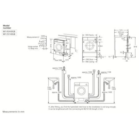 SIEMENS WI14S440GB iQ500 7kg 1400rpm Fully Integrated