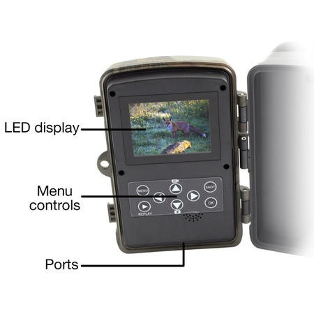 electriQ Outback 12 Megapixel HD Wildlife and Nature Camera with Night Vision & 8GB SD Card