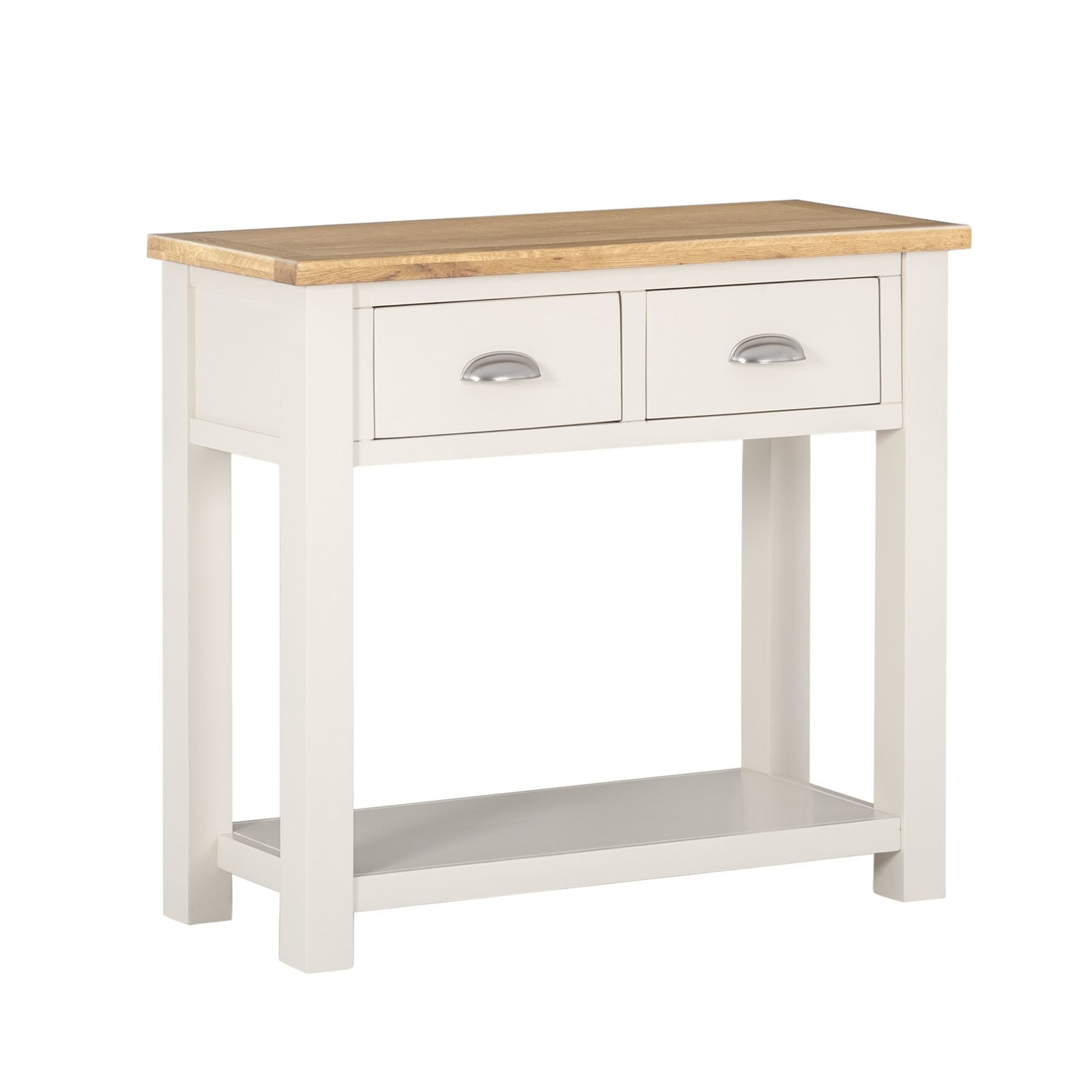 Amazing Details About Willow Narrow Console Table In Two Tone Cream Oak With Drawers Wil004 Pabps2019 Chair Design Images Pabps2019Com