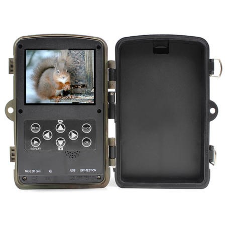 electriQ Outback 12 Megapixel HD Wildlife and Nature Security Camera with 8GB SD Card