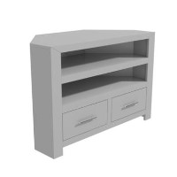 Painted Grey Wooden Corner TV Unit - TV up to 36