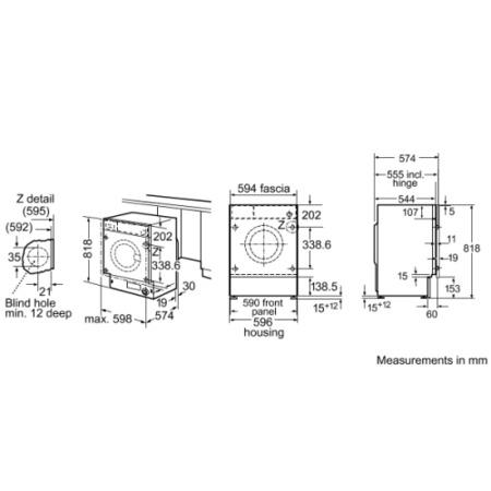 Bosch WIS24140GB Exxcel 7kg 1200rpm Fully Integrated