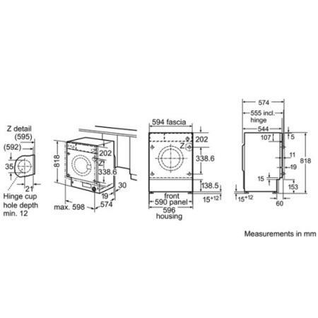 Bosch WIS24141GB 7kg 1200rpm Integrated Washing Machine
