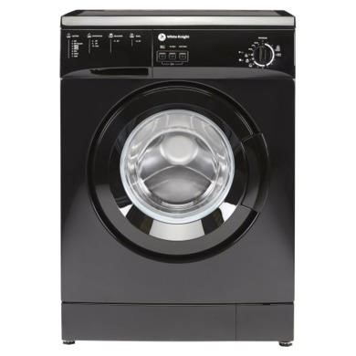 White Knight WM105VB 5kg 1000rpm Freestanding Washing Machine - Black