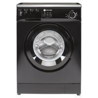 GRADE A1 - White Knight WM105VB 5kg 1000rpm Freestanding Washing Machine Black