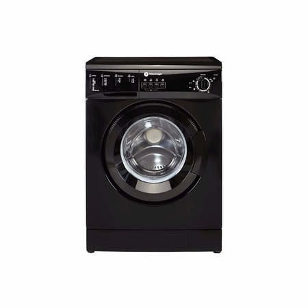 White Knight WM126VB Freestanding Washing Machine 6kg 1200rpm Black