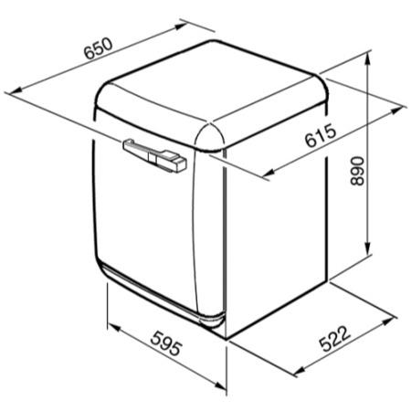Smeg WMFABAZ1 50s Style 5kg 1600rpm Freestanding Washing