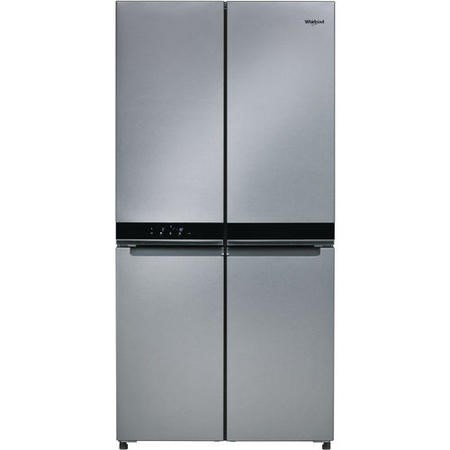 Whirlpool WQ9B1L W Collection Four Door American Fridge Freezer - Stainless Steel Look