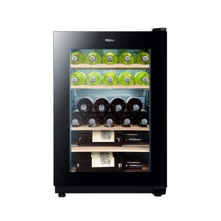 haier ws25ga 25 bottle wine cooler black appliances direct. Black Bedroom Furniture Sets. Home Design Ideas