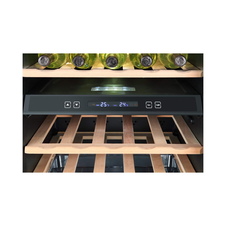 Haier Ws49gdb 49 Bottle Dual Zone Wine Cooler Black