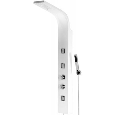 Pannello White Thermostatic Tower Shower Panel