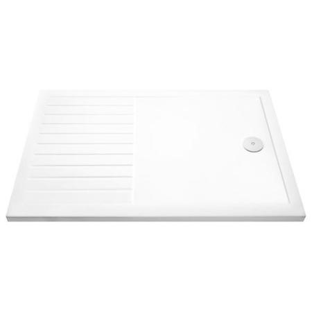 Claristone White Walk in Shower Tray with Drying Area & Waste - 1400 x 900mm
