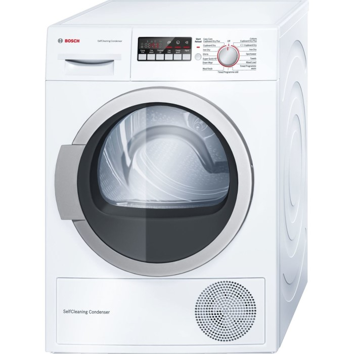 bosch wtw85250gb serie 4 8kg freestanding condenser tumble dryer with heat pump white