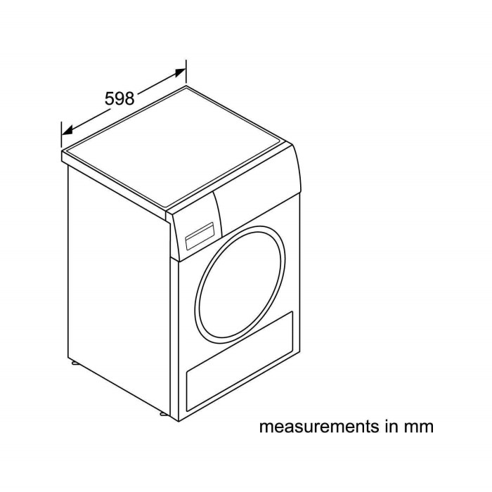 Bosch WTW87560GB 9kg Freestanding Heat Pump Tumble Dryer